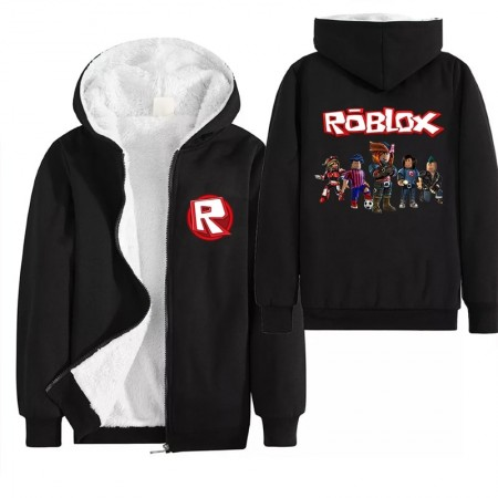 Kids Roblox Jacket Fleece Jackets Winter Coats