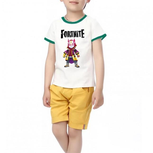 Fortnite T-Shirt Kids Cotton Shirt Funny Youth Tee 34