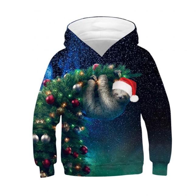woow Christmas 3D Print Hoodie Sweatshirt 3