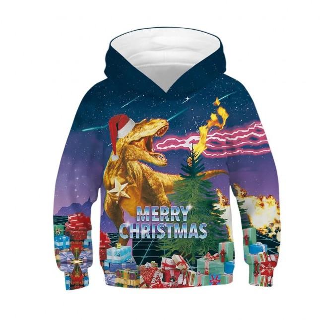 woow Christmas 3D Print Hoodie Sweatshirt