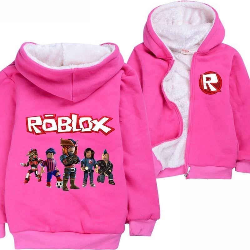 ROBLOX Boys Girl Kid Cartoon Casual Hoodies Sweatshirts Coat Jacket winter warm