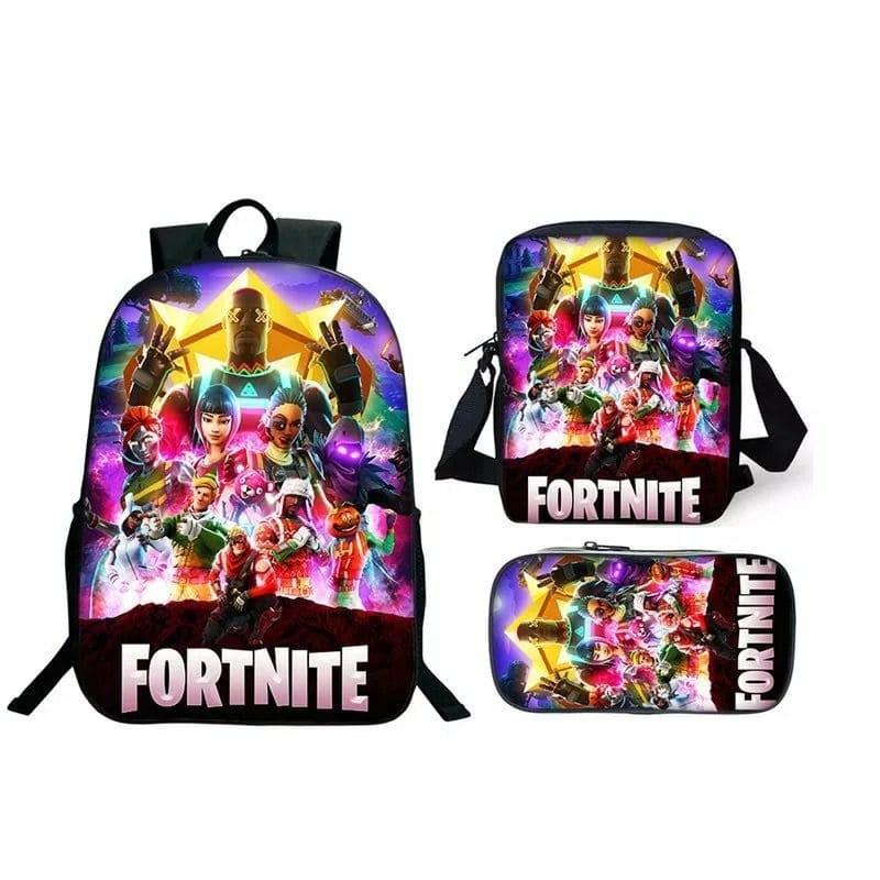 Fortnite Backpack And Lunch Box School Bag Kid Bookbag Best