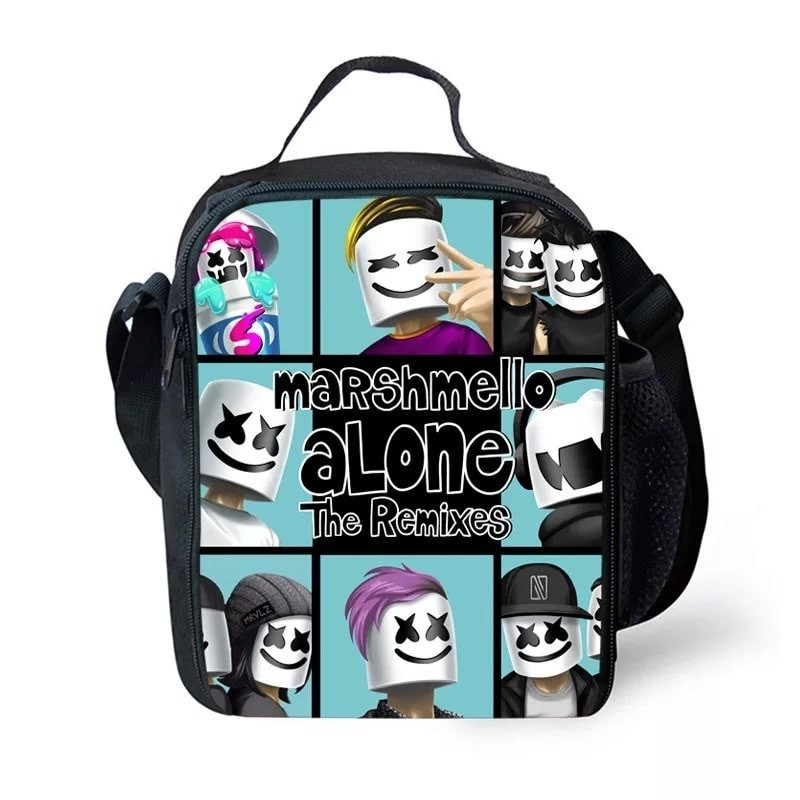 a5cf6db921ce Marshmello Lunch Box Waterproof Insulated Lunch Bag Portable Lunchbox