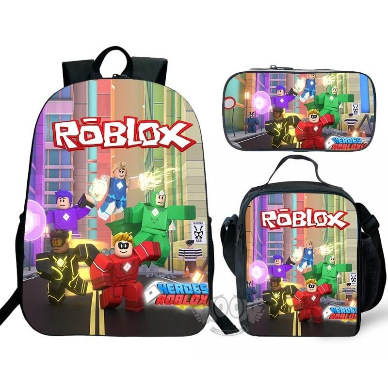 Roblox Girls Rainbow Kids Bookbag Backpack Insulated Lunch Bag Pen Case Lot Gift