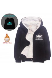 Fortnite Kids Hoodies Zip Up Fleece Jackets Winter Coats Glow in the dark
