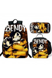 bendy and the ink machine Backpack Lunch box School Bag