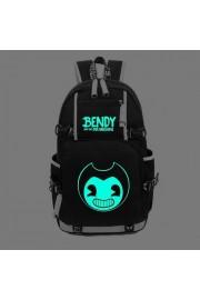 Bendy and the Ink Machine backpack large capacity bookbag Glows in the dark (black, blue)