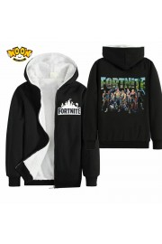 Fortnite Kids Hoodies Zip Up Fleece Jackets Winter Coats