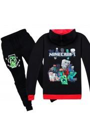 Minecraft Zip Hoodies Kids Cotton Sweatshirts 1