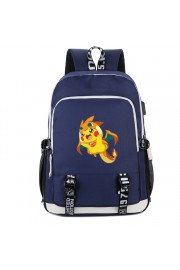 Pokemon Charizard backpack Pikachu bookbag USB charging port (5 color)