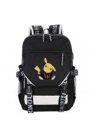 Pokemon Pikachu backpack bookbag USB charging port schoolbag(4 color)