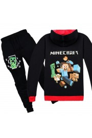 Minecraft Zip Hoodies Kids Cotton Sweatshirts 2
