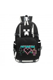 Minecraft Backpack Pat and Jen Bookbag Large Capacity
