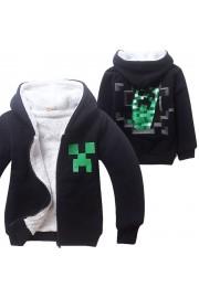 Minecraft Kids Hoodies Zip Up Fleece Jackets Winter Coats 3