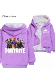 【New Season】Kids Fortnite Fleece Hoodies Winter Thermal Cotton Jackets