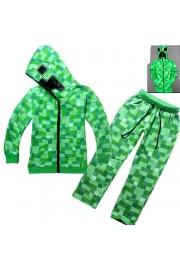Minecraft Zip Hoodies Kids Cotton Sweatshirts