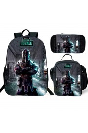 Fortnite Backpack Lunch box School Bag Raven Bookbag