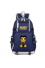 Bendy and the Ink Machine backpack large capacity bookbag school bag (black, blue)