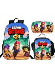 Brawl Stars Backpack Lunch box School Bag Kid Bookbag