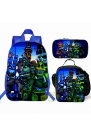 【HOT】Five Nights at Freddy's Blue Backpack Lunch box School Bag Kid Bookbag NEW