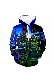Five Nights at Freddy's Hoodie 3D Print Sweatshirt Fashion Clothing