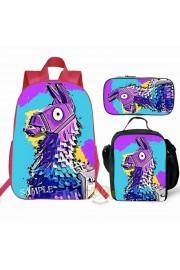 Fortnite Backpack Lunch box School Bag Kid Bookbag Pink