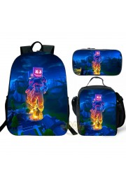 marshmello Backpack and Lunch box School Bag Kid Bookbag