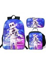 Fortnite Marshmello Backpack Lunch box School Bag Kid Bookbag