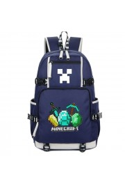 Minecraft Backpack Diamonds Logo Bookbag Large Capacity