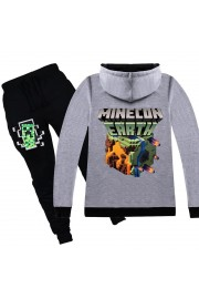 Minecraft Zip Hoodies Kids Cotton Sweatshirts 3