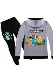 Minecraft Zip Hoodies Kids Cotton Sweatshirts 7