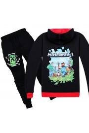 Minecraft Zip Hoodies Kids Cotton Sweatshirts 6