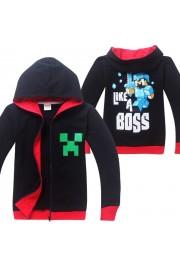 Minecraft Zip Hoodies Kids Cotton Sweatshirts 4