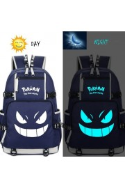 Pokemon backpack Pikachu bookbag large capacity Glows in the dark(4 color)