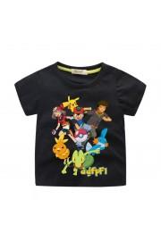 Pokemon Pikachu T-Shirt Kids Cotton Shirt Funny Youth Tee