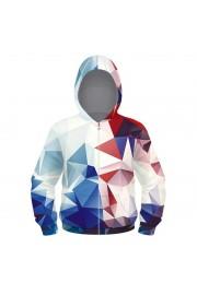 woow colourful 3D Print zipper Hoodie Sweatshirt