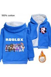 Roblox Kids Hoodies Zip Up Fleece Jackets Winter Coats 1