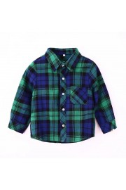 Kids long-sleeved shirt casual shirt(4 color)