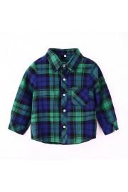 Kids long-sleeved shirt casual shirt(4 color)