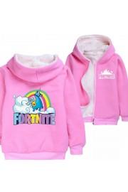 Kids Fortnite Llama Hoodie Zip Up Fleece Jackets Winter Coats