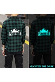 Fortnite Kids Plaid Shirt Glows in the dark(3 color)