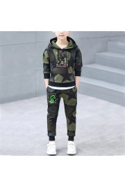 NEW Kids Minecraft Cotton Camouflage Hoodie and sweatpants 2-Piece