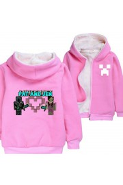 Kids Minecraft Hoodies Fleece Jackets Winter Coats Pat and Jen(6 color)