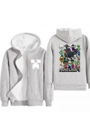 Kids Minecraft Hoodies Fleece Jackets Winter Coats(6 color)