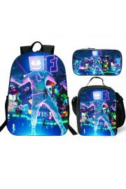 marshmello Backpack and Lunch box School Bag Kid Bookbag 1