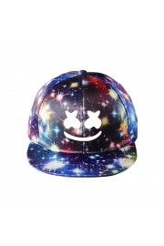 Marshmello Galaxy Snapback Hat Adjustable Flat Bill Baseball Cap