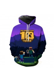 Minecraft Hoodie 3D Print Sweatshirt Fashion Clothing 3