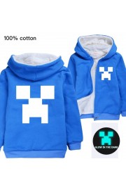 Kids Minecraft Hoodies Fleece Jackets Winter Coats (6 color)