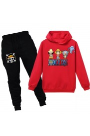 One Piece Luffy Kids Hoodies Cotton Sweatshirts Outfits 2