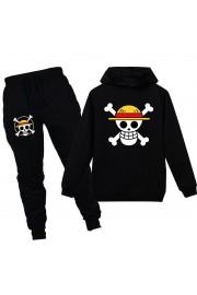 One Piece Luffy Kids Hoodies Cotton Sweatshirts Outfits 3